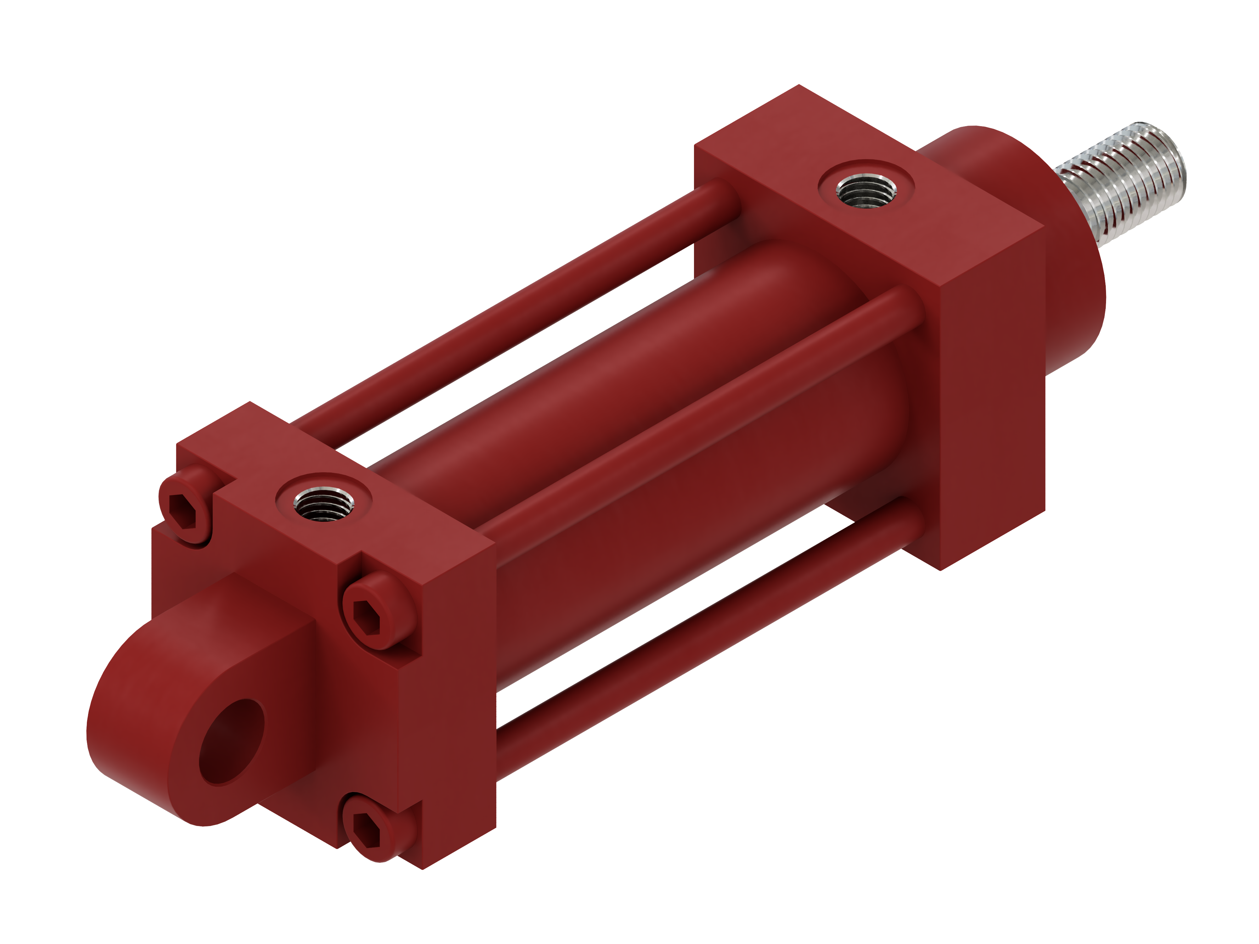 Hydraulic cylinder, double acting, HVB serie - Mounting by rear eye
