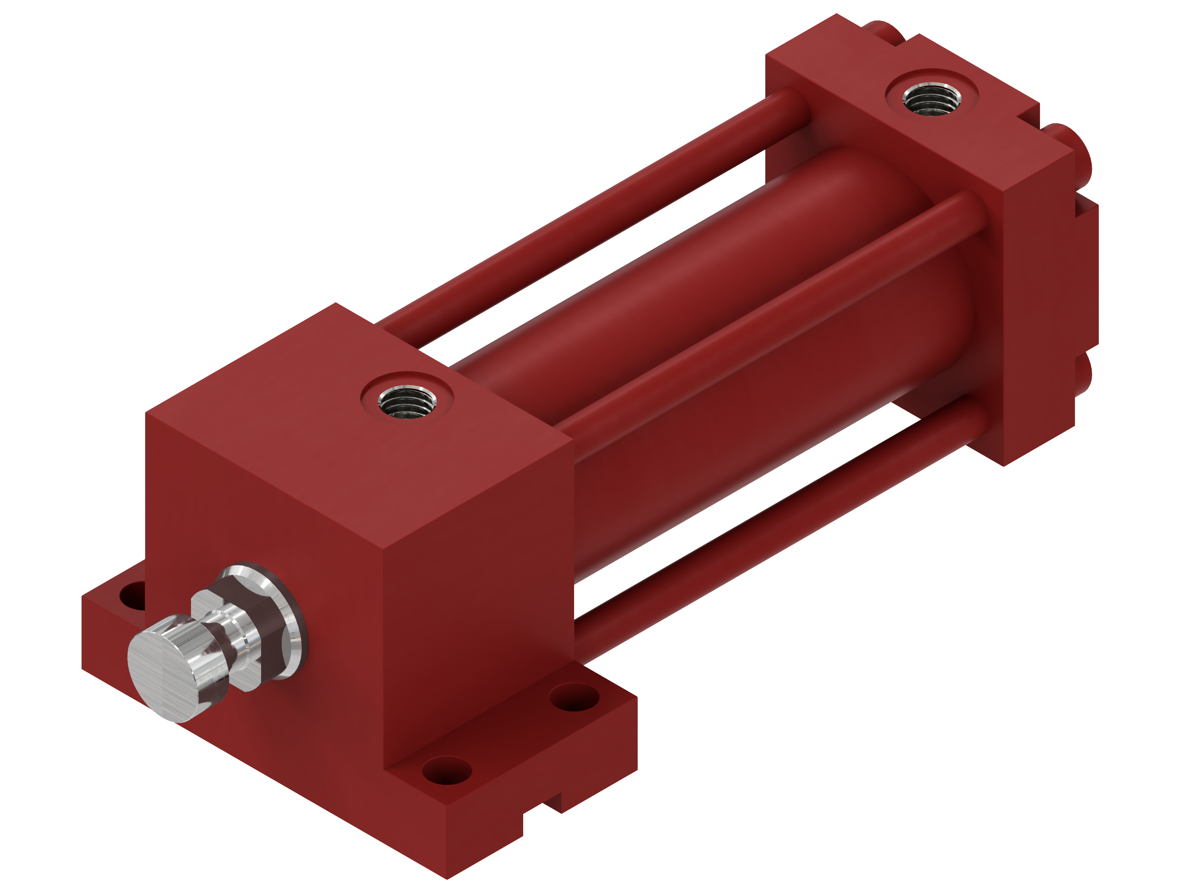 Hydraulic cylinder, double acting, HVB serie - Mounting by low head lugs